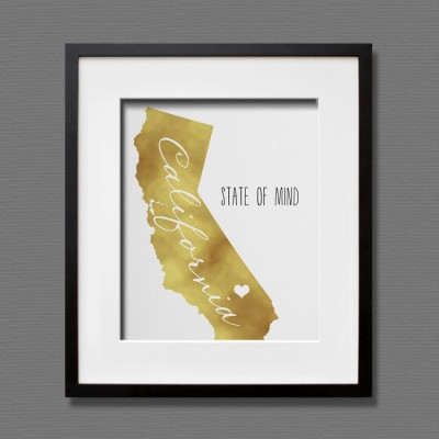 california gold foil art