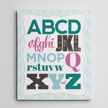 canvas print abcd