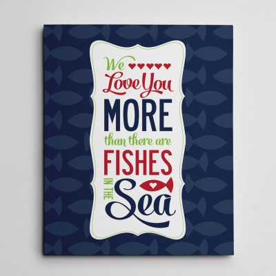 canvas wallart navy