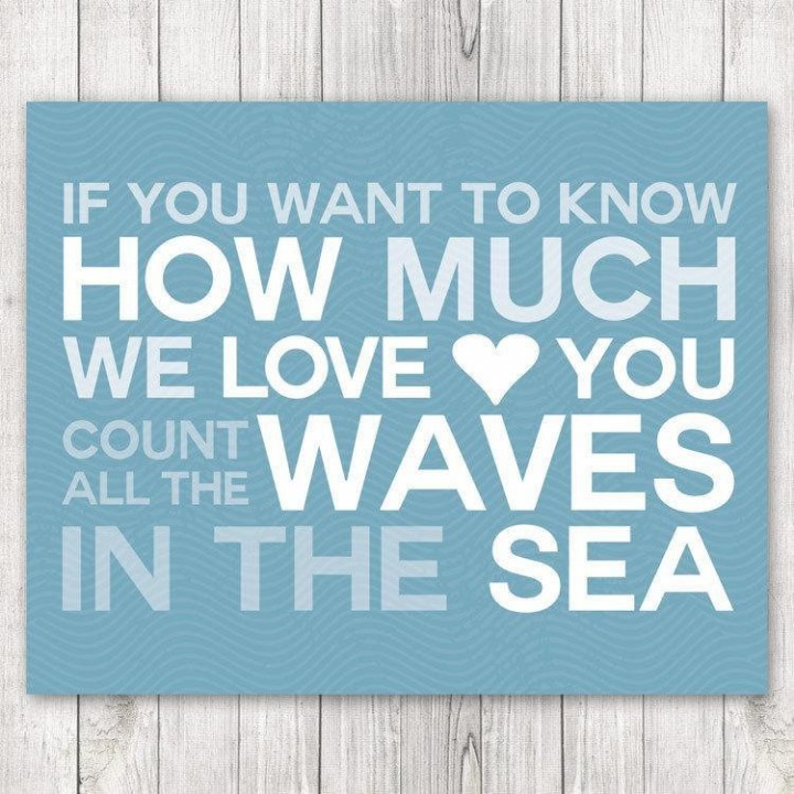 count all the waves wall art