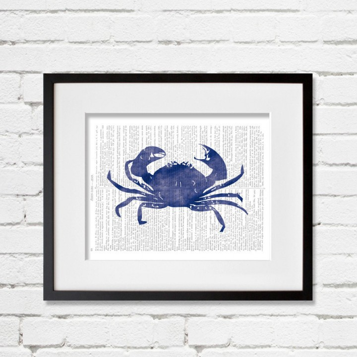 crab dictionary print