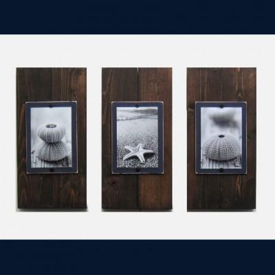 dark stain frames