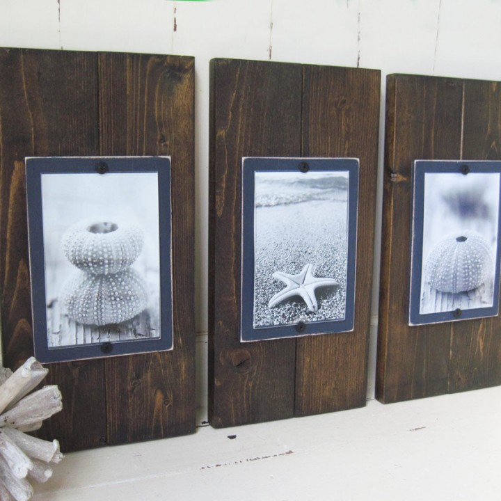 dark stain plank set