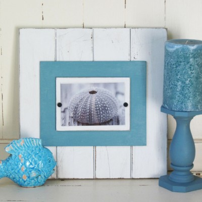 distressed blue frame
