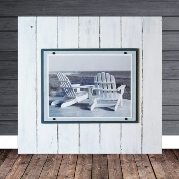 distressed white frame