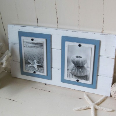 double pale blue frame