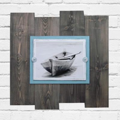 driftwood boat art