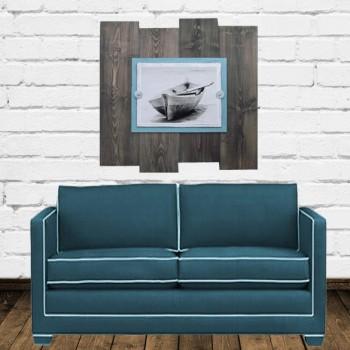 driftwood boat frame