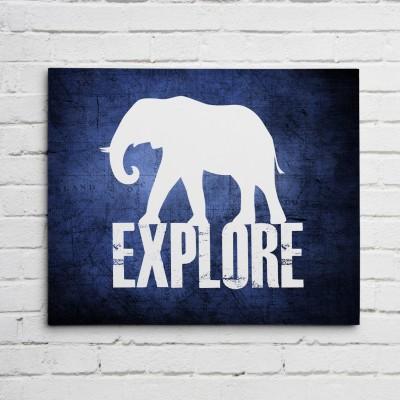 elephant explore print