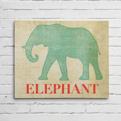 elephant safari print