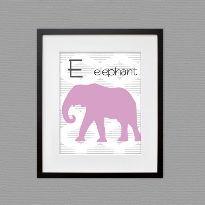 elephant wall art