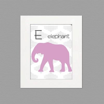 elephant white frame