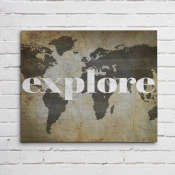 explore vintage print