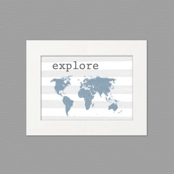 explore white frame art