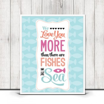 fishes in the sea print