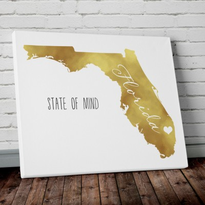 florida gold wall art