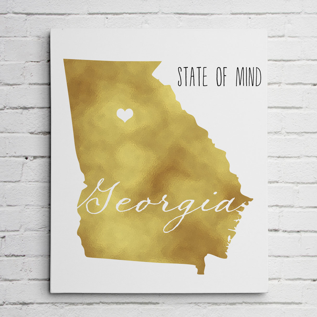 Georgia Gold Foil Wall Art