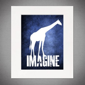 giraffe imagine print