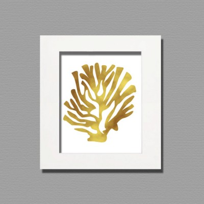 gold leaf white frame