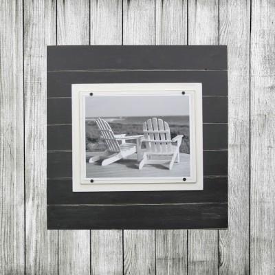 gray plank frame