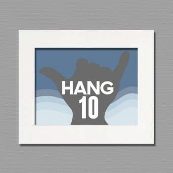 hang ten frame wall art