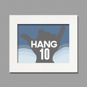 hang ten frame wall art
