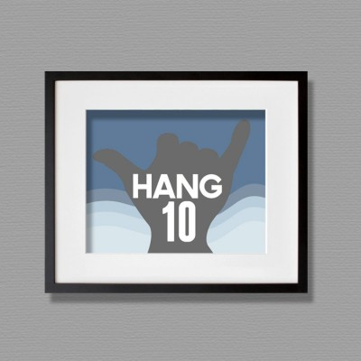 hang ten wall art
