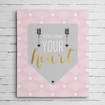 heart gold foil print