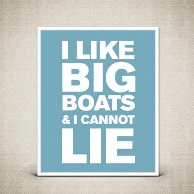 i like big boats blue