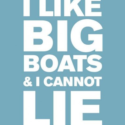 i like big boats print