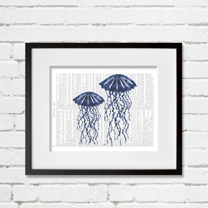 jellyfish watercolor print