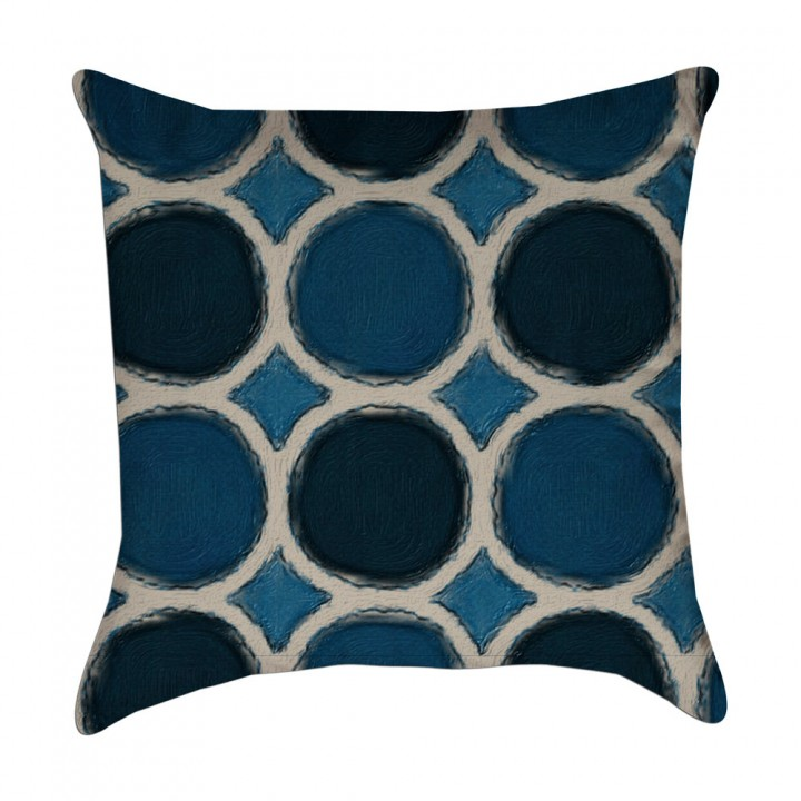 large watercolor polka dot pillow cover