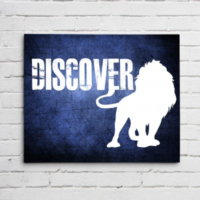 lion discover print