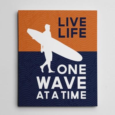 live life canvas print