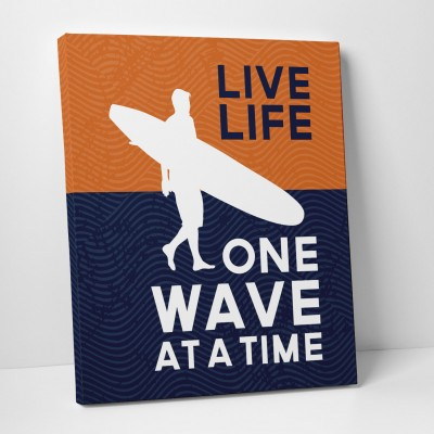 live life decor print