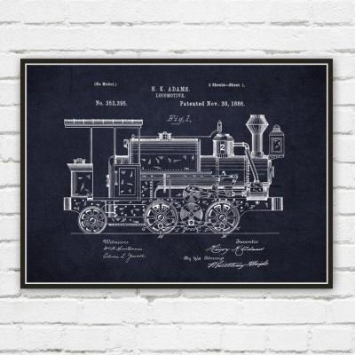 locomotive wall art