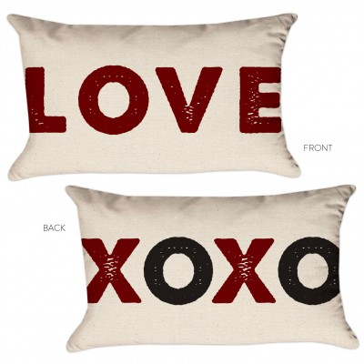 love xoxo pillow cover