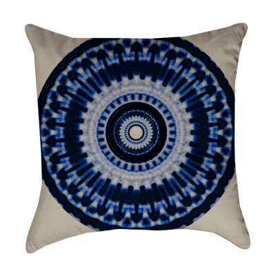 medallion dye pillow cover