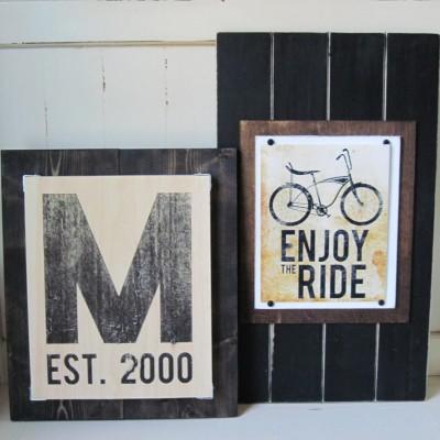 monogram print set