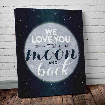 moon canvas art