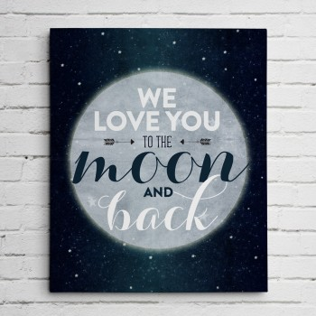 moon decor print