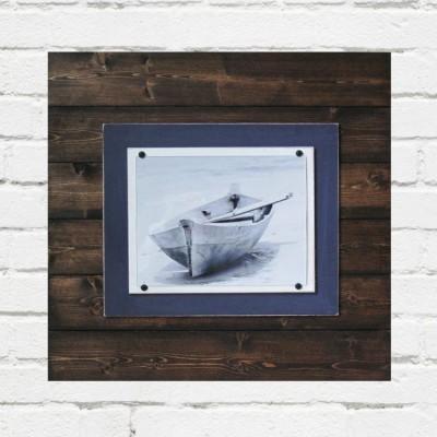 navy blue plank frame