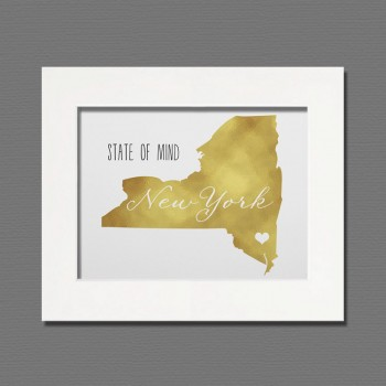 new york gold wall art
