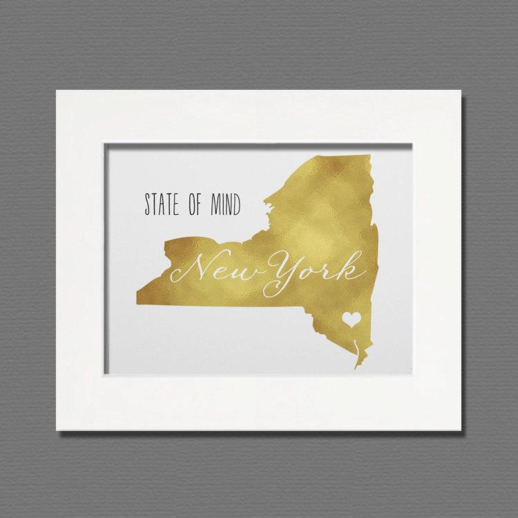 New York Gold Foil Wall Art