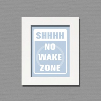 no wake zone framed wall art