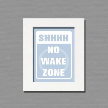 no wake zone framed wall art