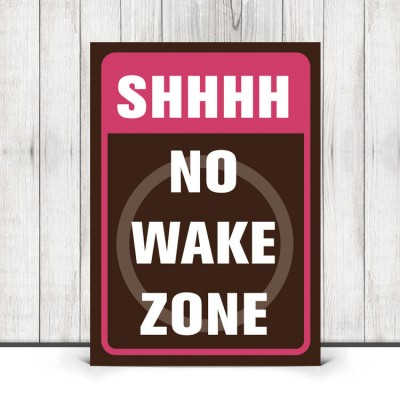 no wake zone print