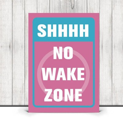 no wake zone wall art