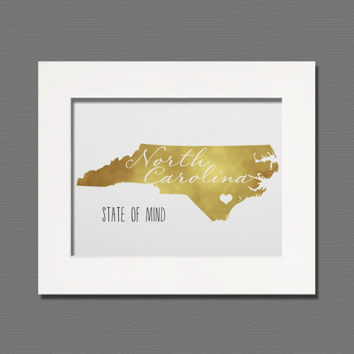 north carolina gold foil