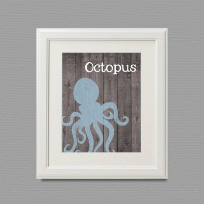 octopus white frame